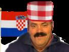 Sticker risitas croatie foot russie 2018