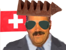 Sticker risitas football suisse coupe russie 2018 drapeau