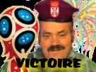 Sticker risitas football serbie coupe russie 2018