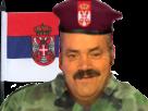 Sticker risitas football serbie coupe russie 2018 drapeau