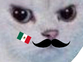 Sticker other chat blanc colere rage enerve foot football mexique mexicain cdm coupe du monde moustache muchachos gringo zoom