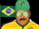 Sticker risitas bresil coupe russie 2018 bresilien drapeau