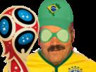 Sticker risitas bresil coupe russie 2018 bresilien