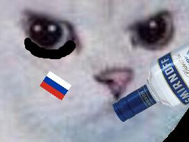 Sticker other chat blanc colere rage enerve foot football russe russie cdm coupe du monde zoom vodka