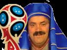 Sticker risitas egypte pharaon egyptien victoire coupe russie 2018