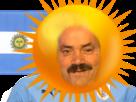 Sticker risitas argentine drapeau soleil