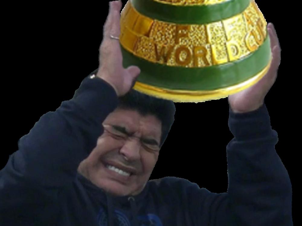 Sticker risitas maradona coupe souleve monde argentine argentin