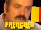 Sticker risitas frenched france francais belgique