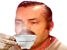Sticker risitas cafe the tasse risitasse delire vagamundo sans fond transparent bestreup reupload brup masterdecoup