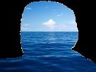 Sticker risitas paysage nature ocean mer bleu celestin nuage ciel tintinv sans fond transparent bestreup reupload brup