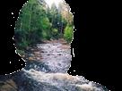 Sticker jesus paysage nature riviere foret arbre bois eau canada tintinv sans fond transparent bestreup reupload brup