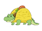Sticker other crocodile tacos otf alkpote qlf